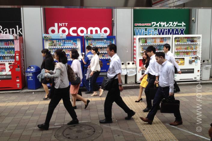 Getränkeautomaten in Shinjujku, Tokio, Japan