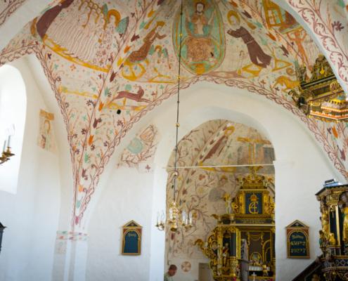 Kalkmalereien der Fanefjord-Kirche, Insel Mon