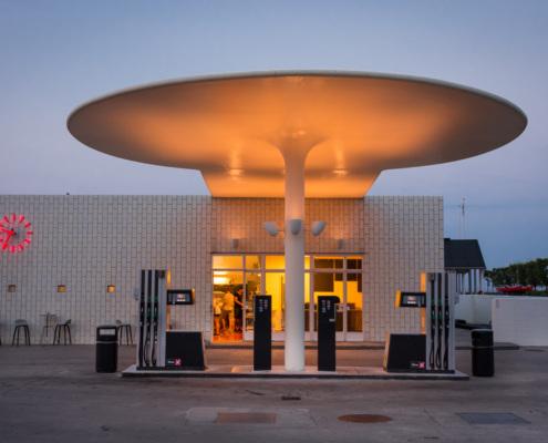 Tankstelle nördlich von Kopenhagen