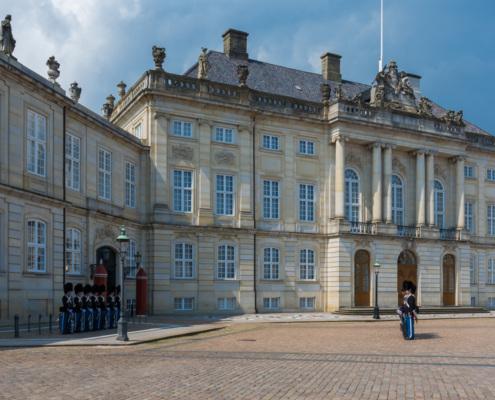 Wachablösung im Schloss Amalienborg, Kopenhagen