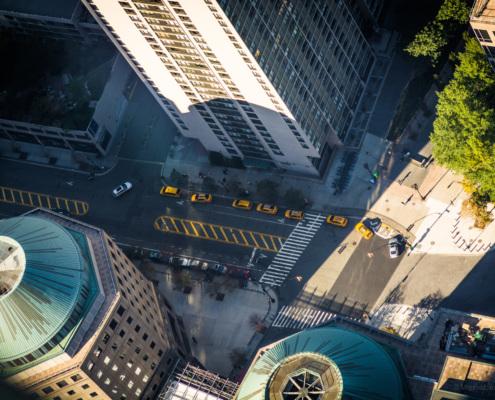 Blick vom One World Observatory, New York City