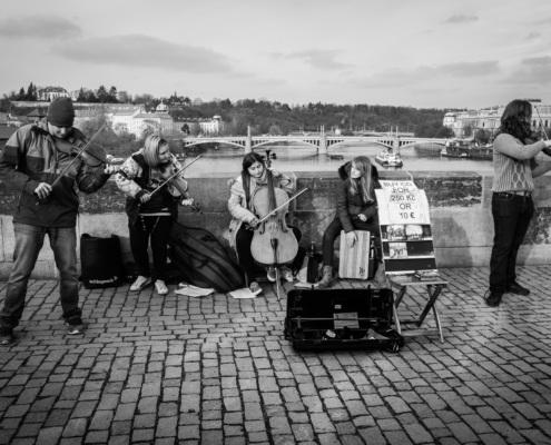 Musiker, Karlsbrücke, Prag