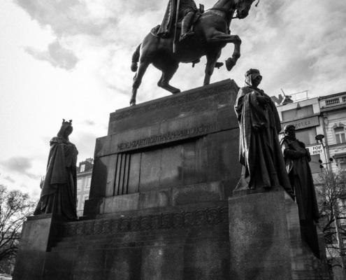 Reiterstatue, Wenzelsplatz, Prag