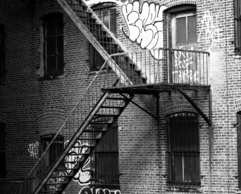 Blick in einen typischen Hinterhof in New York City