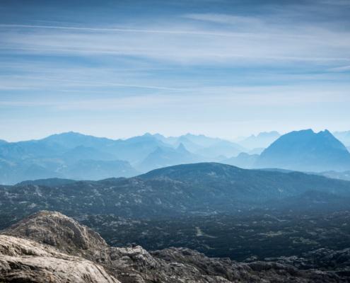 Blick auf das Steinerne Meer vom Dachstein