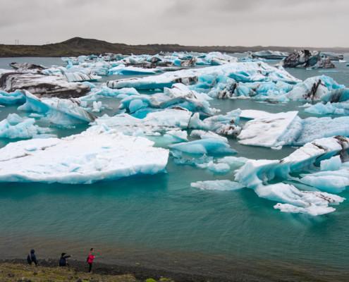 Eisberge im Gletschersee Jökülsárlón