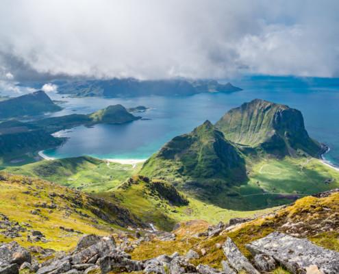 Weg zum Himmeltindan, Lofoten, Norwegen